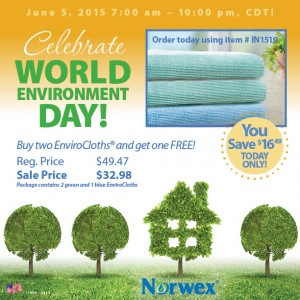 Celebrate World Environment Day and Get one Blue Enviro Cloth Free